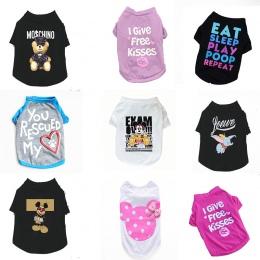 Ubrania dla zwierząt domowych dla małych psów ubrania letnie Chihuahua Puppy odzież koszula zimowa ciepła kamizelka drukowane Ro