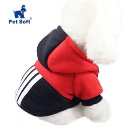 Zwierzęta domowe są miękkie zimowe ciepłe ubrania dla zwierząt domowych sportowe bluzy z kapturem dla małe pieski chihuahua mops