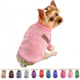 Klasyczne ubrania dla psów ciepłe Puppy strój Pet kurtka płaszcz zimowe ubrania dla psów miękki sweter odzież dla małe pieski ch