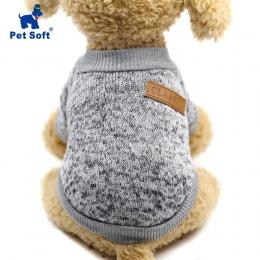 Zwierzęta domowe są miękkie ubrania dla zwierząt domowych dla małych psów zimowe ciepły płaszcz klasyczny sweter polar wysokiej
