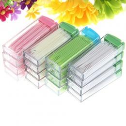 Nowy przenośny plastikowe wykałaczki 50 sztuk w pudełku zielony bez zapachu ustne wybory dentystyczne