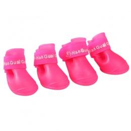 4 sztuk/partia S/M/L dla zwierząt domowych kalosze dla psów buty gumowe przenośny antypoślizgowa wodoodporna dla zwierząt domowy