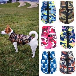 Wodoodporna kurtka dla psa zima strój dla szczeniaczka Camo wzór mały kurtka dla psa Chihuahua Yorkie odzież petshop ropa para p