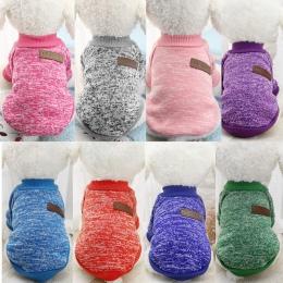 Pies ubrania dla małych psów miękki sweter dla psa odzież dla psów zimowe ubrania dla psów Chihuahua klasyczne ubranie dla zwier