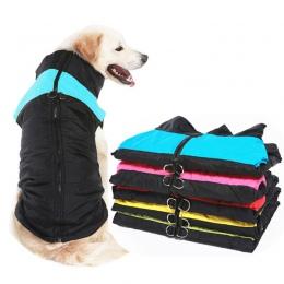 Zimowe ubrania dla zwierząt domowych ciepły duży pies płaszcz Puppy odzież wodoodporna zwierzęta domowe są kamizelka dla małych