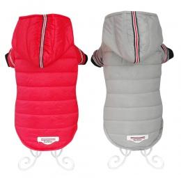 Ubrania dla psów zima ciepła kurtka dla psów płaszcz Puppy Chihuahua odzież bluzy dla małych średnich psów Puppy Yorkshire strój