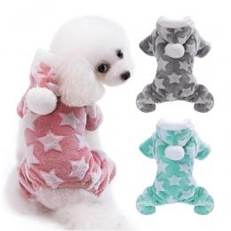 Urocze ubranka dla psa kombinezon ciepłe zimowe Puppy ubranie dla kota kostium odzież dla zwierząt strój dla małych średnich psó