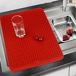 Duże silikonowe ustawienie stołu Premium odporna na wysokie temperatury mata susząca zastawa stołowa zmywarkę do naczyń danie ku
