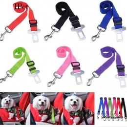 6 kolorów regulowany pojazd samochodowy dla zwierząt domowych pas bezpieczeństwa uprząż zwierzęca ogranicznik Lead smycz klip be