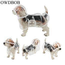 OWDBOB 1 pc wodoodporny płaszcz przeciwdeszczowy z kapturem przezroczysty Pet Dog Puppy płaszcz przeciwdeszczowy płaszcz kostium