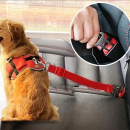 Pojazd samochodowy zwierzęta domowe są siedzenie dla psa pas Puppy pasów bezpieczeństwa samochodów uprząż ze sznura klip Pet akc