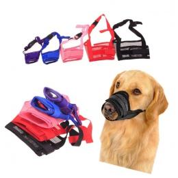 1 PC regulowany Mesh oddychające małych i dużych psów usta kufa Anti kora Bite minnie nylonowy pies żuć kagańce szkolenie produk