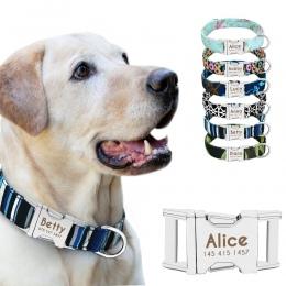 Obroża dla psa spersonalizowane Nylon małych psów Puppy obroże wygrawerować, imię i nazwisko, adres, dla małych średnich dużych