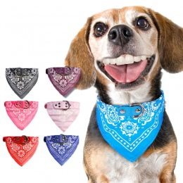 Regulowany pies chustka ze skóry z nadrukiem miękki kołnierz dla psa Pet Supplies kot pies szalik kołnierz dla Chihuahua Puppy P