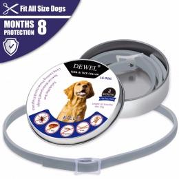 Dewel obroża dla psa anty pcheł komary na świeżym powietrzu ochronna regulowana obroża dla zwierząt domowych 8 miesięcy długotrw