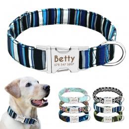 Obroża dla psa Nylon spersonalizowane niestandardowe pies ID Tag kołnierz grawerowane tabliczka znamionowa kołnierz dla kota Ant