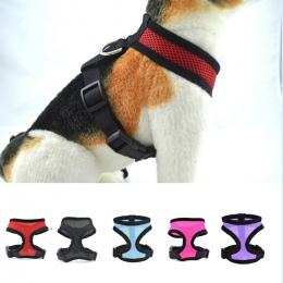 Regulowany oddychająca kamizelka obroże łańcuch Puppy Cat Pet szelki dla psa smycz dla psa pasy na klatkę piersiową akcesoria da