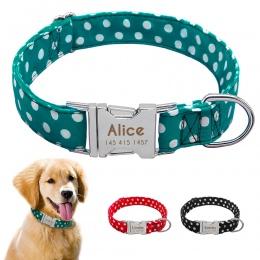 Personazlied obroża dla psa dostosowane Pet obroża z nylonu Anti-lost tabliczka znamionowa Tags obroże darmowa grawerowane dla m