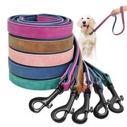 Smycz i uprząż dla psa ze skóry dla zwierząt domowych dla psów Puppy Walking do biegania smycze lina treningowa pas dla małych ś