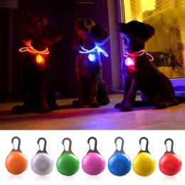 Latarka LED obroża dla psa lub kota świecące wisiorek noc bezpieczeństwa Pet prowadzi naszyjnik Luminous jasne dekoracji obroże