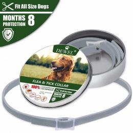 Dewel obroża dla psa anty pcheł komary kleszcze owady wodoodporna ziołowe obroża dla zwierząt domowych 8 miesięcy ochrony akceso