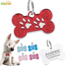 Dostosowane psy koty obroże szelki dla psów arkusz spersonalizowane psy ID Tag darmowe grawerowane obroża dla psa nazwa telefon