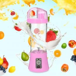 380 ml przenośne Blender podręczna sokowirówka USB akumulator elektryczny automatyczny warzyw owoców cytrusowych pomarańczowy so