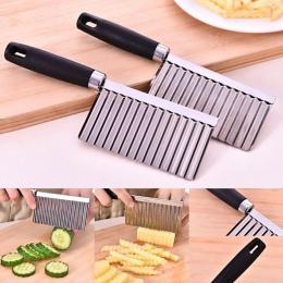 Ziemniak falisty szlifowane narzędzie obierak do gotowania narzędzia kuchenne noże kuchenne akcesoria gadżet kuchenny ze stali n