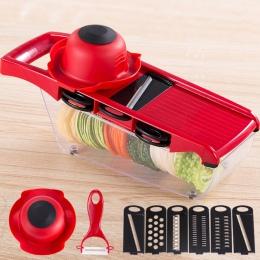 10 sztuk/zestaw instrukcja krajalnica do ziemniaków urządzenie do krojenia warzyw i owoców ze stali nierdzewnej mandolina obiera
