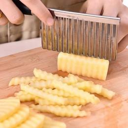 Ziemniaków faliste krawędziach nóż gadżet kuchenny ze stali nierdzewnej do cięcia owoców warzyw narzędzia kuchenne akcesoria fry