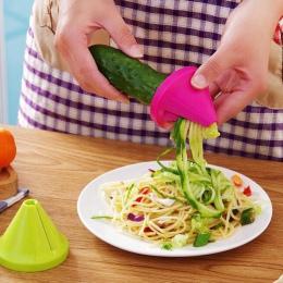 1 sztuk krajarka do warzyw z tworzywa sztucznego spiralne krajalnice Shred obierak owoce urządzenia kuchenne gadżet akcesoria do