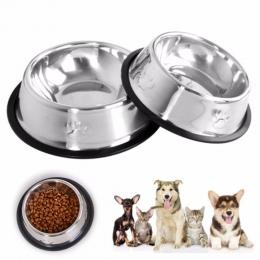 Nowy pies kot miski ze stali nierdzewnej podróży ślad podajnik do karmienia miseczka na wodę dla zwierząt domowych dla psów Pupp