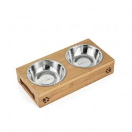 TECHOME nowe popularne kot pies zwierzęta domowe są ze stali nierdzewnej/ceramiczne karmienia i miski do picia połączeniu z bamb