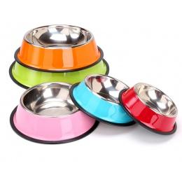 Lekexi ze stali nierdzewnej zwierzęta miska dla psa podróży miski na jedzenie dla kotów psy różowa na wodę pitną na zewnątrz kar