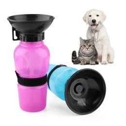 OLN 500 ml do picia dla psów butelka PET Puppy Cat Sport przenośny podróży na zewnątrz karma miska do picia kubek do wody kubek