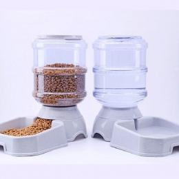 3.8L z tworzywa sztucznego dla zwierząt domowych karma dla psów podajnik automatyczny do picia dla zwierząt domowych miseczka na