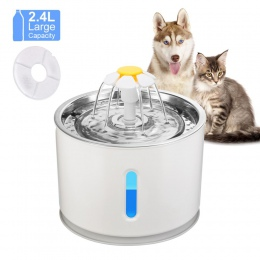 Automatyczne kot fontanna do picia dla zwierząt domowych dozownik wody elektryczny LED dla zwierząt domowych automat do wody mis