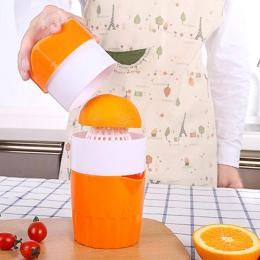 Przenośny 300 ml instrukcja wyciskarka do cytryn 100% pomarańczowy wyciskarka do cytrusów owoce kawy kubek duża pojemność filiża