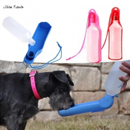 ISHOWTIENDA nowy 1 PC 20*5.2*5 CM pies podróży Sport butelka wody na zewnątrz paszy do picia butelka PET dostaw przenośna butelk