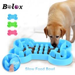 Miska dla psa zdrowe miękkie gumowe powolne podajnik żywności zabezpieczeniem przed ssaniem miseczka turystyczna dla karma dla k