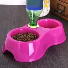 1 sztuk podwójny Port pies kot zwierzęta automatyczne dystrybutory wody miska podajnika naczynia do picia dla zwierząt domowych