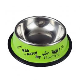 Ze stali nierdzewnej miski dla zwierząt dla psów Puppy koty żywności podajnik wody zwierzęta dostarcza karmienie naczynia psy mi