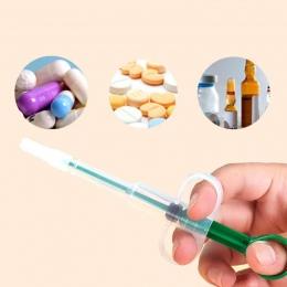 Pies kot Piller medycyna dozownik szczelny/a PP tabletek tabletka kapsułka popychacz do karmienia igła do zastrzyków zestaw Pet