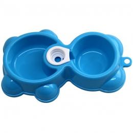 Nowy kwalifikacje danie wody podajnik żywności fontanna niedźwiedź podwójna miska Hot Puppy pies miska dla kotów Levert Dropship