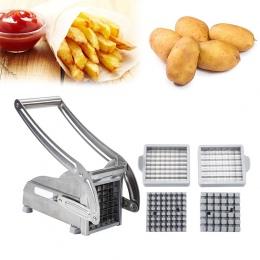 2 ostrza ze stali nierdzewnej strona główna frytki chipsy ziemniaczane taśmy krajalnica Cutter Chopper maszyna do robienia czips