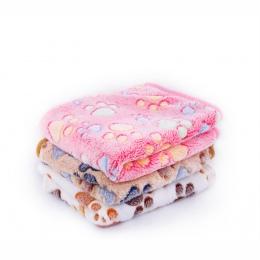 3 kolory 40x60 cm 75x50 cm śliczne Floral zwierzęta snu ciepły łapa drukuj ręcznik pies kot puppy polar miękki kocyk dla psa łóż