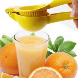 Żółty instrukcja wyciskarka do cytryn uchwyt naciśnij sitko wielofunkcyjny sokowirówka cytryny Squeezeer stopu aluminium świeży