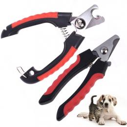 Professional Pet Cat Dog obcinacz do paznokci nóż ze stali nierdzewnej nożyce do strzyżenia dla zwierząt koty psy z zamkiem S M