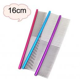 16 cm wysokiej jakości grzebień dla zwierząt domowych profesjonalna stal grzebień groomerski do czyszczenia trymer do włosów szc