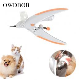 OWDBOB dla zwierząt domowych obcinacz do paznokci maszynki do mielenia z LED światła i 5X lupa do pielęgnacji zwierząt domowych
